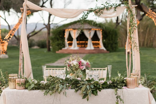 Dusty Rose & Navy Outdoor Desert Wedding Feature