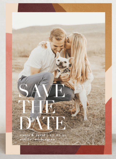 save-the-date design with photo