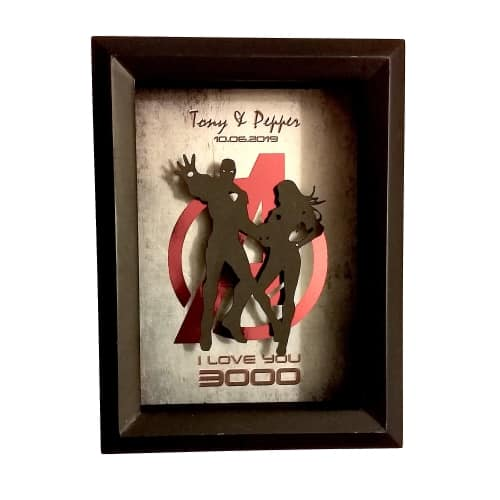 Iron Man Themed Shadow Box for Valentines Day