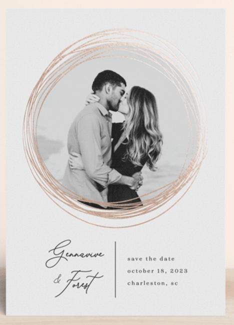 bands of eternity save-the-date design