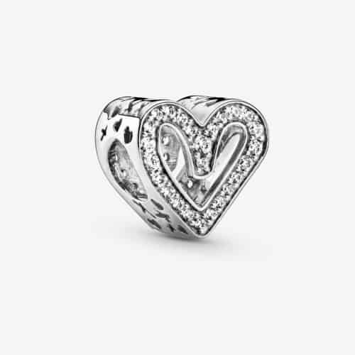 sterling silver heart charm by Pandora