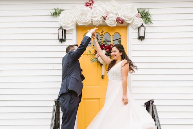 Stunning Backyard Wedding in Massachusetts Feature