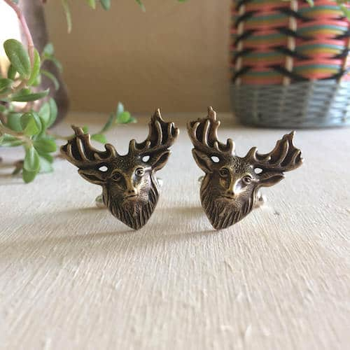 brass moose cufflinks