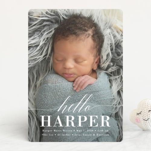 newborn baby photo card