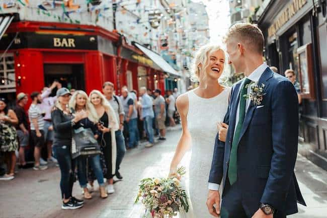 Colourful Dublin City Hall Wedding Feature