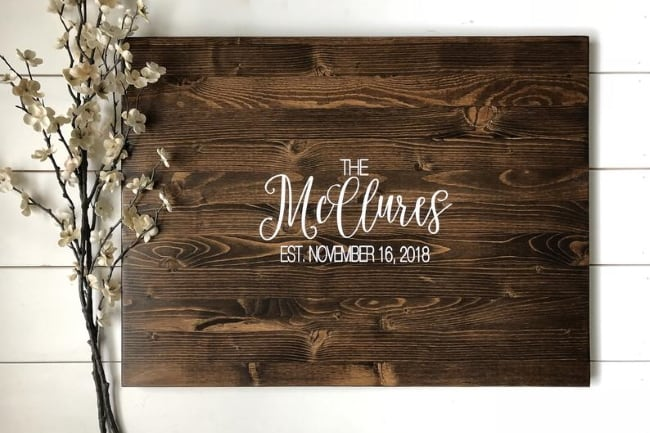 Rustic Guest Book Wooden Slab