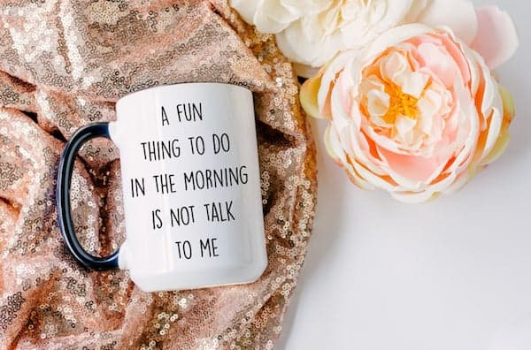 mug with saying 'A Fun Thing To Do In The Morning is Not Talk to Me'