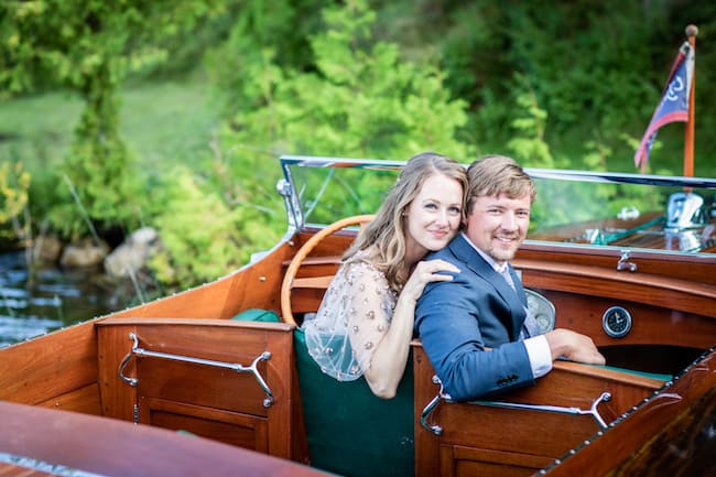 Nature-Inspired Michigan Wedding With Boats and Birches Feature