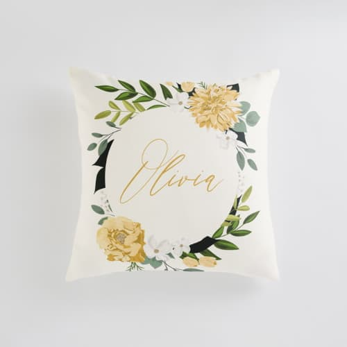 Personalized cotton pillow for 2nd anniversary gift