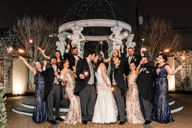 Roaring 20s Themed New Years Eve Wedding Feature