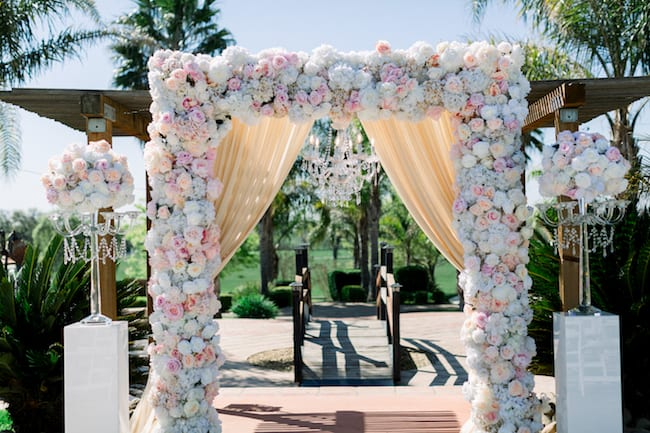 Rose-Filled Vineyard Wedding in California Feature