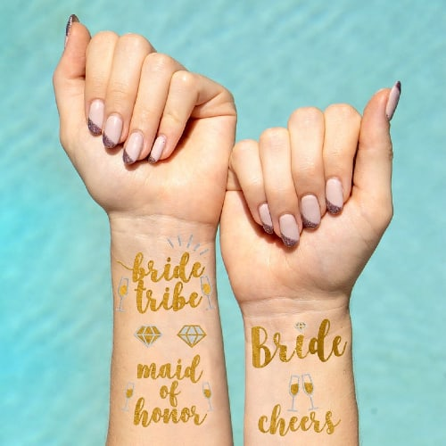 Bride Tribe Temporary Tattoos