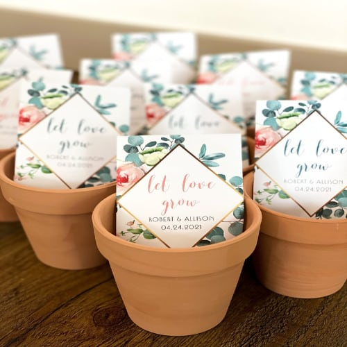 Personalized Seed Wedding Favors