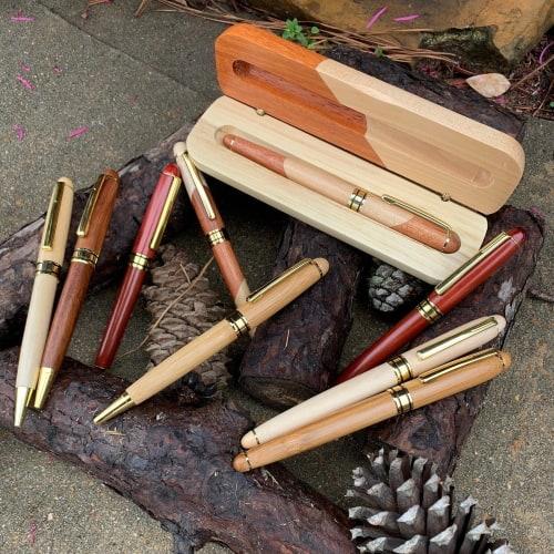 Engraved Wood Pen Set