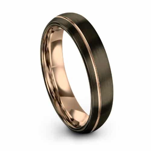 GUNMETAL Mens Wedding Band