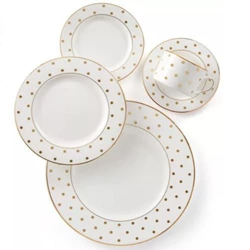 Kate Spade Polka Dot China Dinner Set
