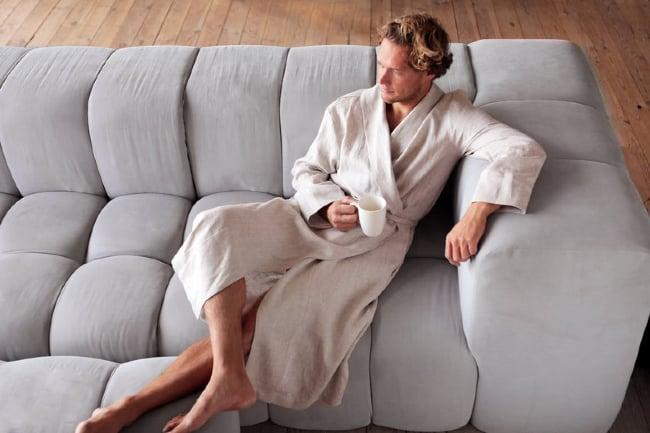 Men's linen robe