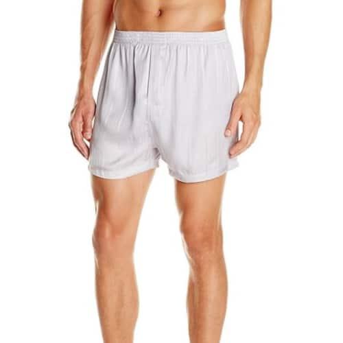 Men's Silk Herringbone Stripe Boxers