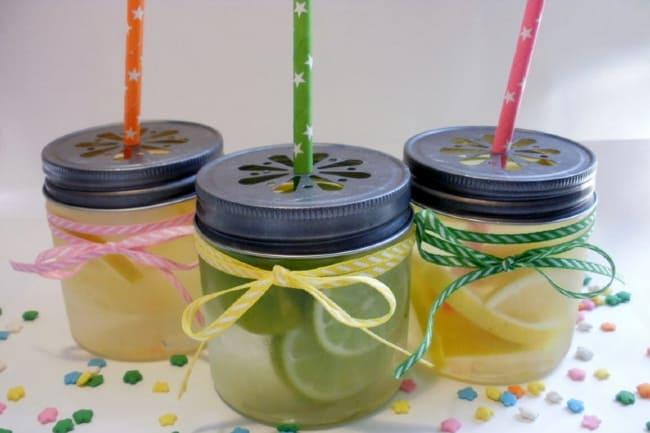 mini plastic mason jars