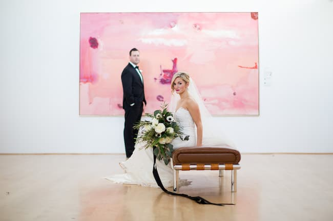 Modern Museum Wedding in Tennessee FEature