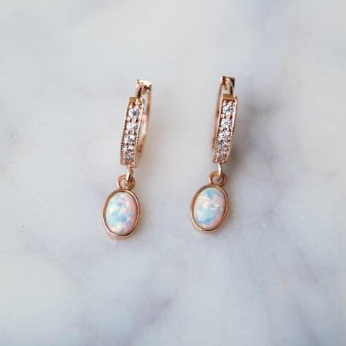 Dainty Opal Earrings