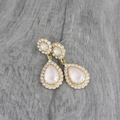 Swarovski Crystal & Opal Earrings