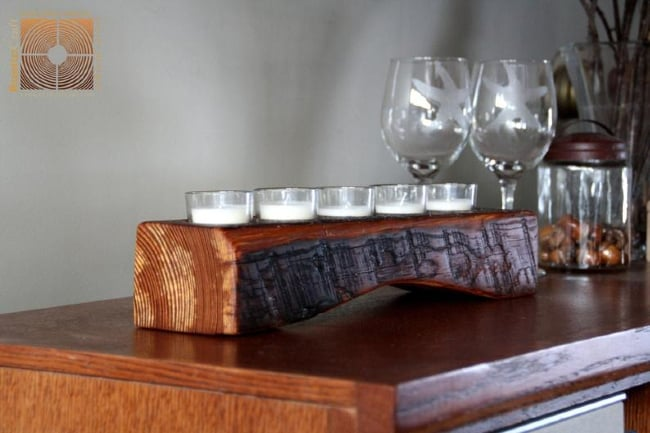 Personalized Wood Votive Candle Holder