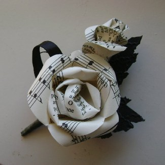 Sheet Music Boutonniere