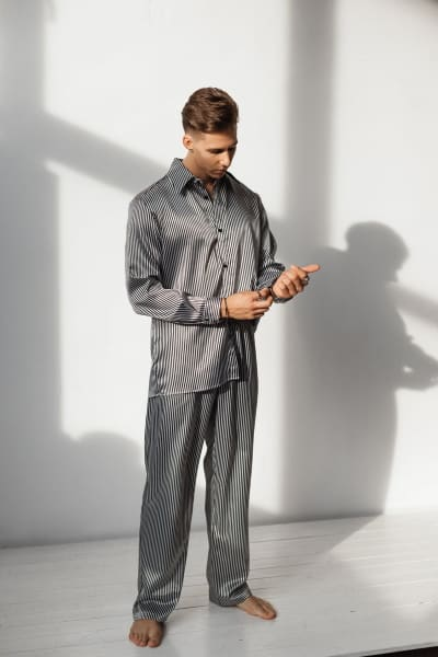 Men's Silk Pajamas 4th anniversary gift