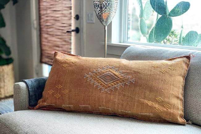 Bohemian Silk Throw Pillow
