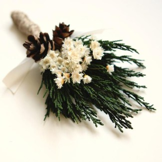 Woodland Rustic Boutonniere