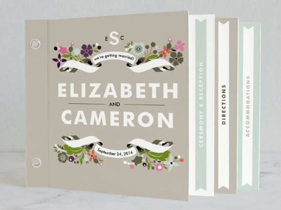Minted Banner and Branches Minibook