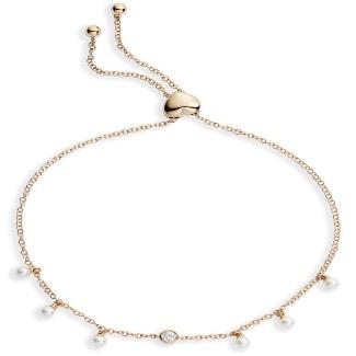 Diamond & Pearl Boho Bracelet