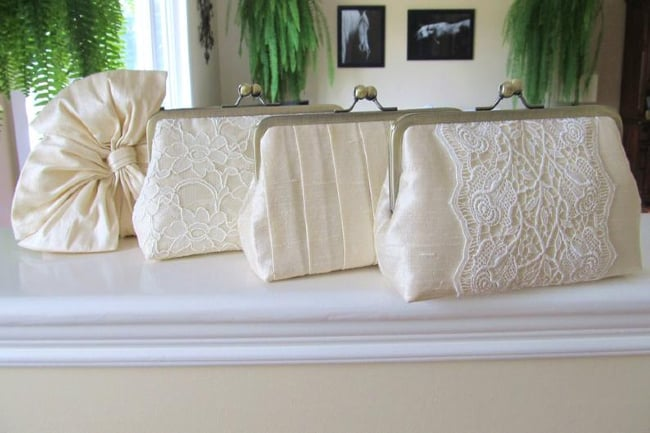 Mismatched Bridesmaid Clutches