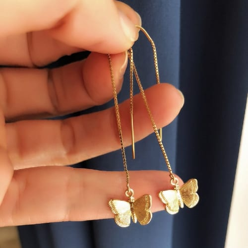 Butterfly Threader Earrings