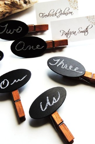 Clothespin Seating Cards