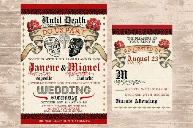 Day of the Dead Wedding Invite