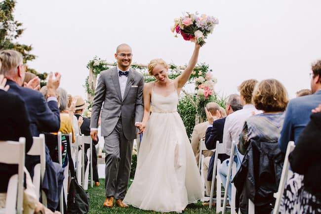 Flower-Filled Coastal Maine Wedding Feature