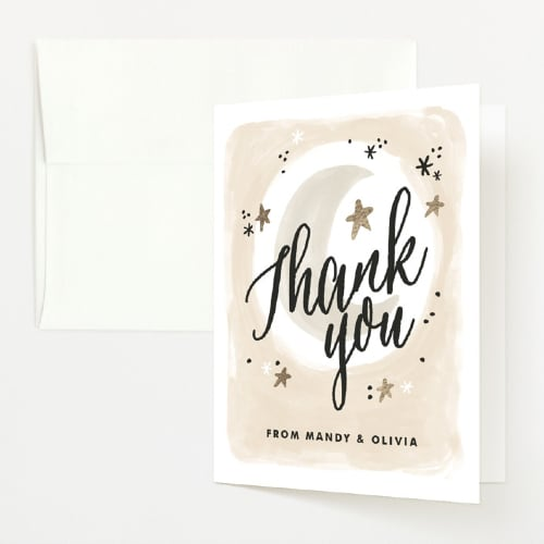 Minted baby shower thank you card