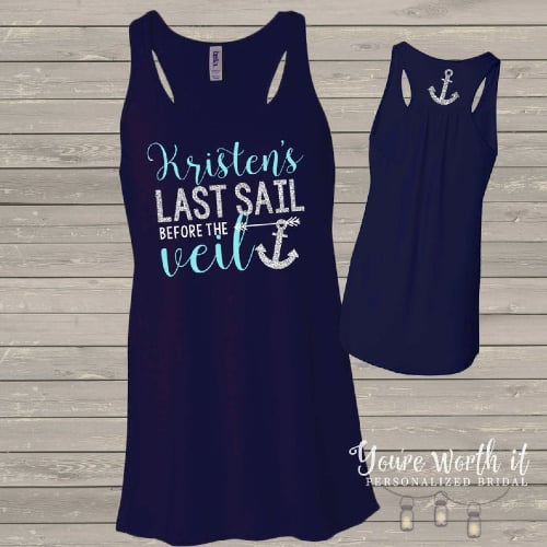 'Last Sail Before the Veil' Shirts with Anchor