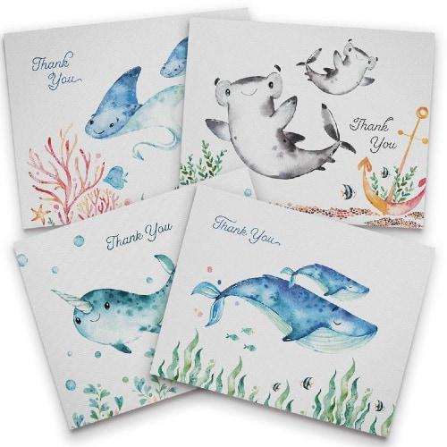 Ocean Themed Thank You Card