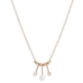 Pearl & Diamond Mobile Necklace