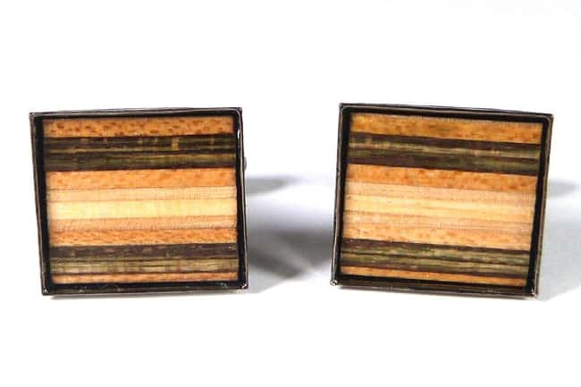 Recycled Skateboards Cufflinks
