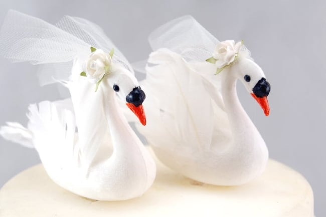 White Swan Cake Topper