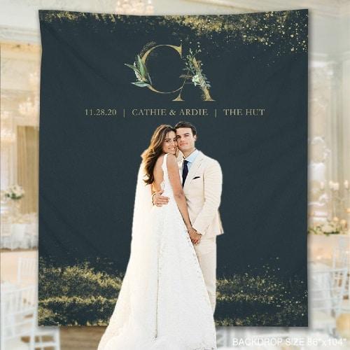 Wedding Backdrop Sign Banner