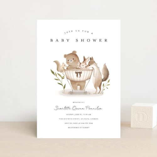 Woodland Animals Invite