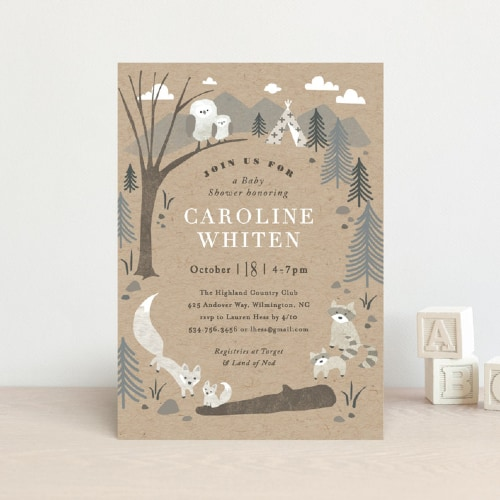 Woodland Welcome Shower Invite