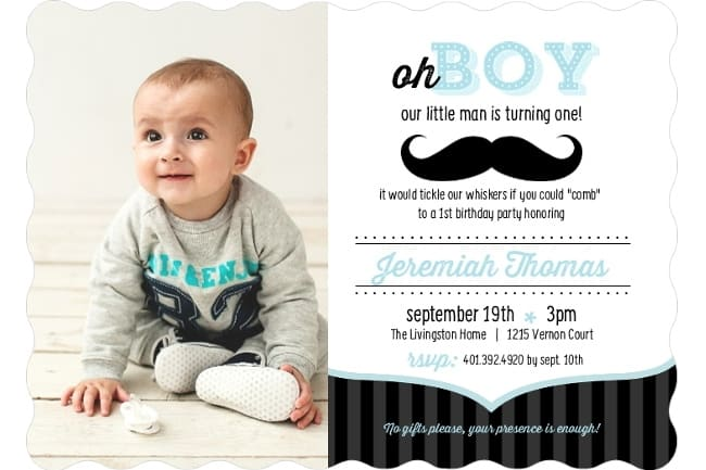 9 cute baby first birthday invitations
