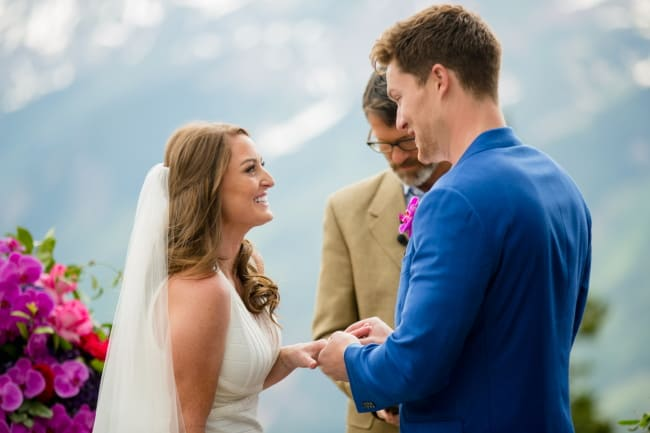 Bright Pops of Color for Wedding in Vail CO Featured