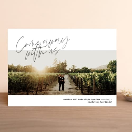 Come Away With Us Save the Date Cards